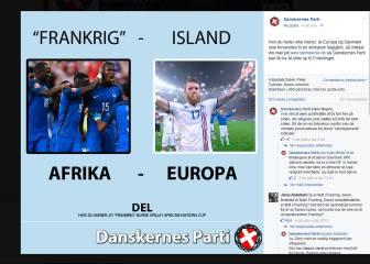 Danish party hijacks France-Iceland for racist message