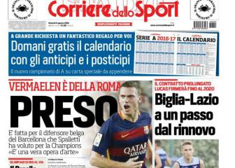 Roma reel in Vermaelen - reports