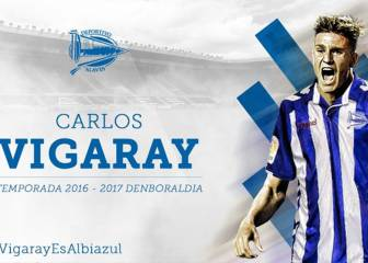 Alavés sign ex-Getafe player Vigaray on a three-year deal