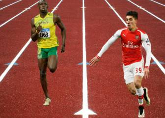 Arsenal's Héctor Bellerín challenges Usain Bolt to race