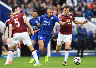El Leicester golea al Burnley y el Arsenal al Hull City