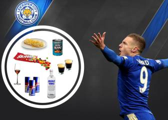 Vardy da a conocer su dieta: vodka, Red Bull, vino y tortilla