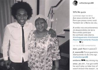 Willian posts emotional message after mother dies