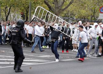Legia hooligans involved in violent clashes at Bernabeu