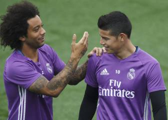 Marcelo engripado y James con molestias se quedan en Madrid