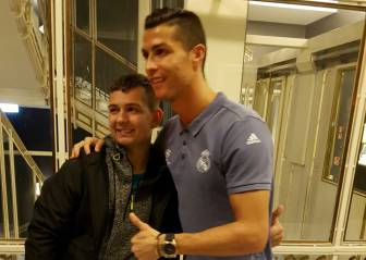 Ronaldo reunited with boy he helped bring out of a coma