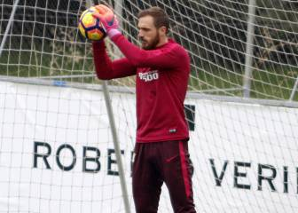 Oblak regresó a Madrid: