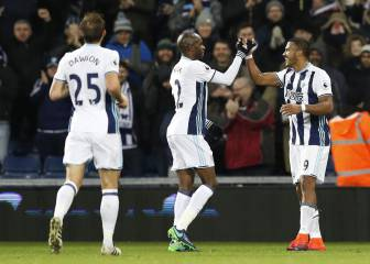 El West Brom ya es noveno tras golear en su estadio al Burnley