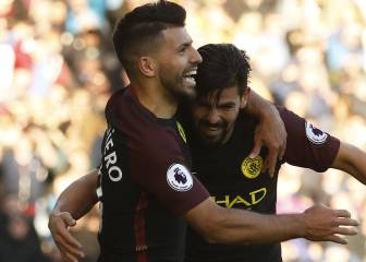 Agüero hunde al Burnley y el City no pierde el paso