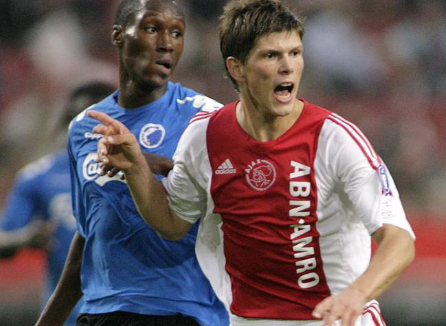Klaas-Jan Huntelaar con el Ajax.