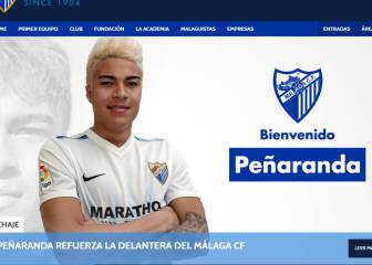 Málaga announce loan signing of forward Peñaranda
