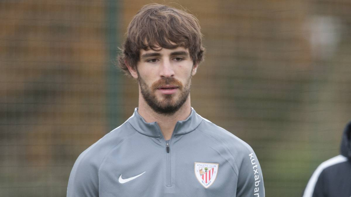 Yeray con el Athletic.