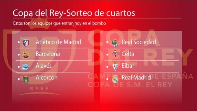 Copa Del Rey Cuartos De Final | Sorteo Copa Del Rey Hoy Sorteo Puro Madrid Barca Y Atletico
