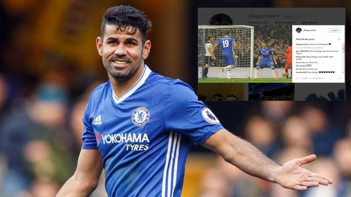 Chelsea's Diego Costa posts to Instagram after Conte bust up
