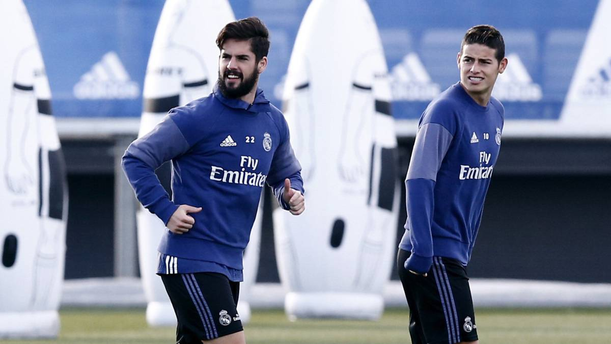 Isco and James fail to recover and will miss Sevilla match