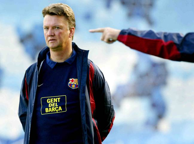 Louis Van Gaal during his second stint as Barcelona coach.