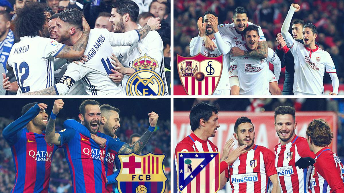 The race for LaLiga: how the fixture list looks for each club