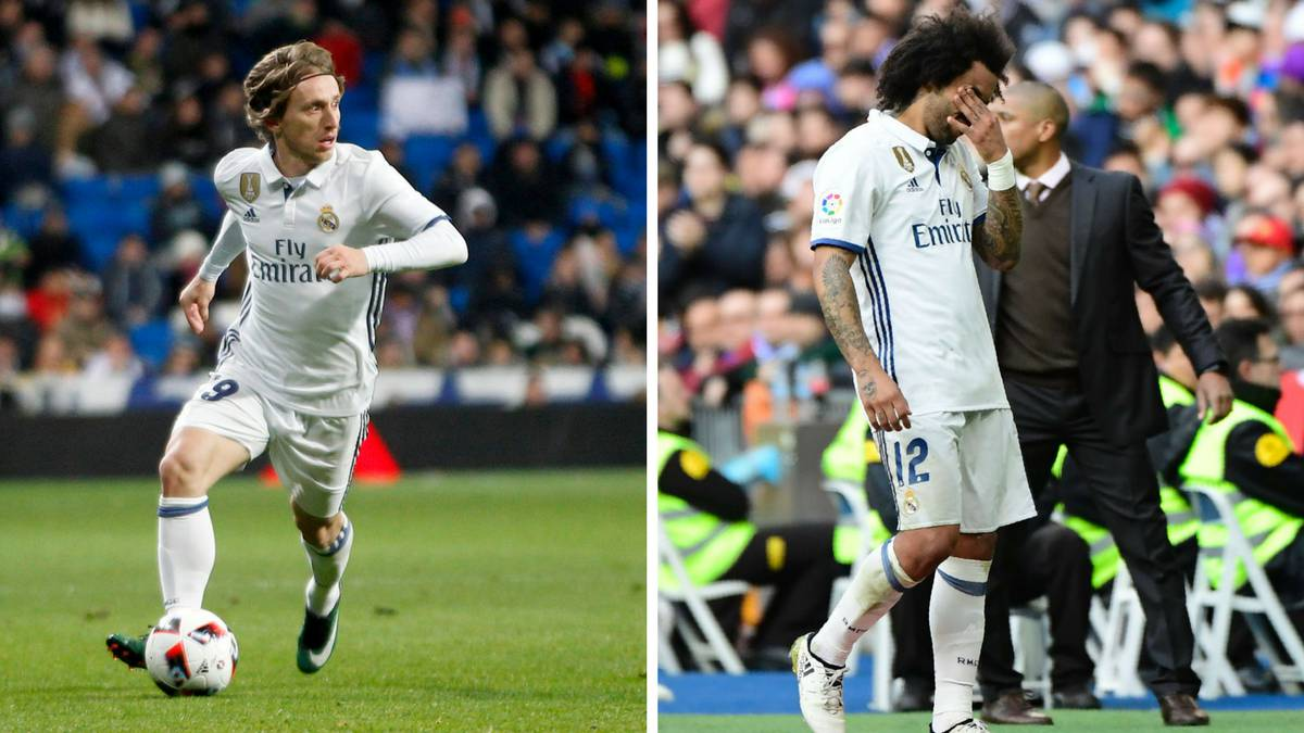 Real suffer fresh injury blows with Modric and Marcelo out