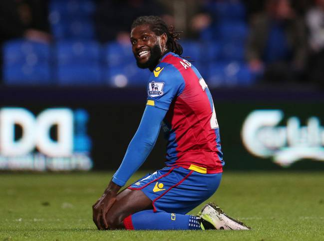 Adebayor en el Crystal Palace.
