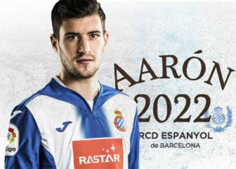 Aarón extends Espanyol stay to 2022 and boosts buy-out
