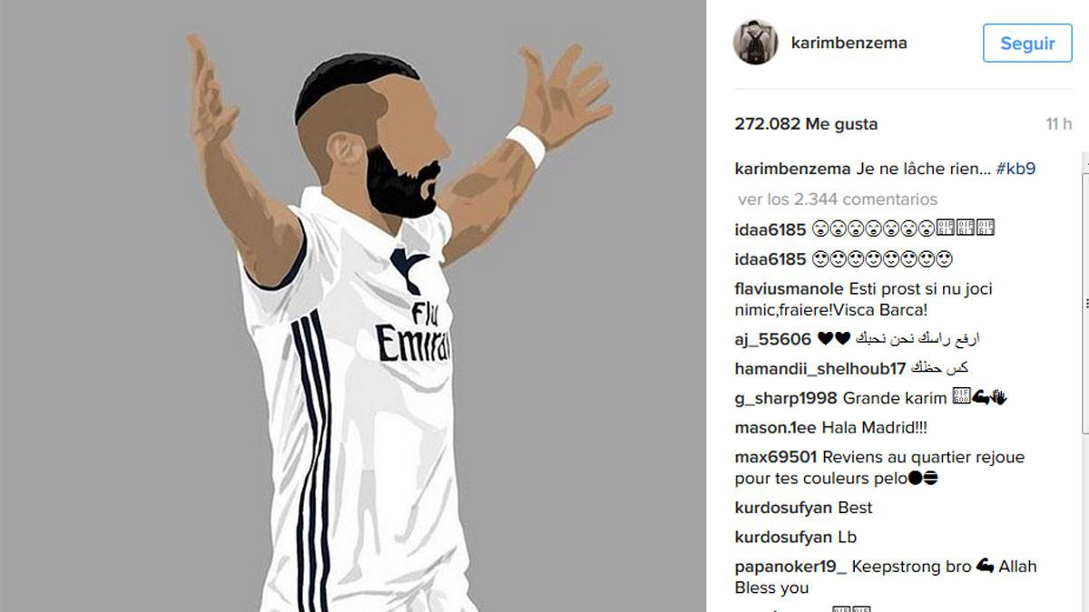 "Benzema sends the Real Madrid fans a message ""I never quit"""