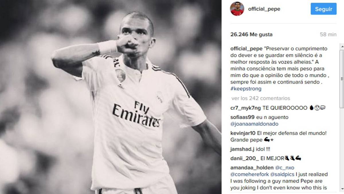 Pepe cites George Washington in cryptic post amid exit reports