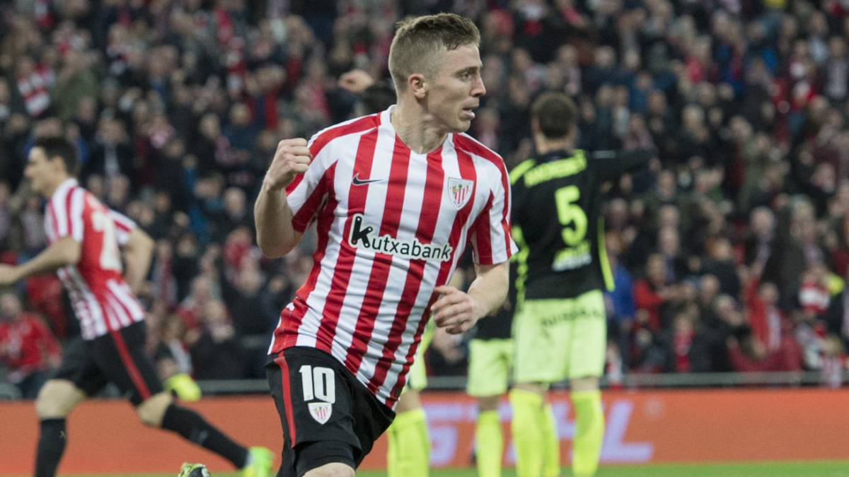 Muniain con el Athletic.