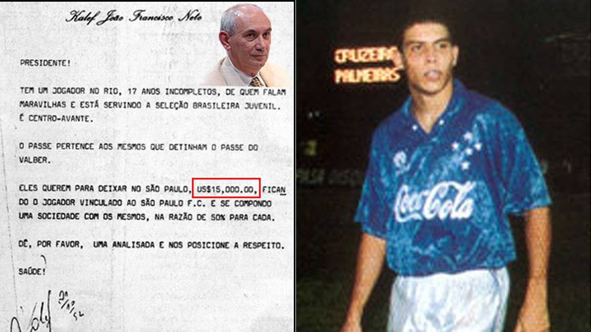 São Paulo turned down $15,000 Ronaldo offer in 1992