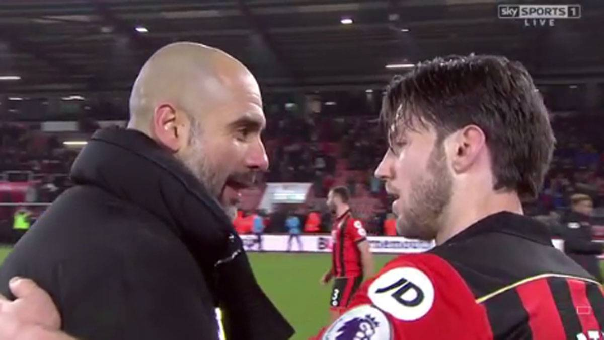 Pep Guardiola's lovely gesture to Harry Arter, who lost his daughter in 2015