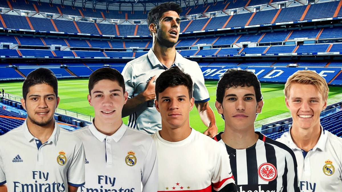 Six future stars of the Real Madrid first team: Vallejo, Odegaard, Galvan...