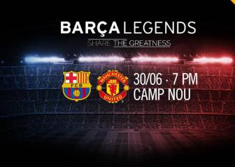 Barça legends to face Man. United counterparts at Camp Nou