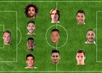 Five Real Madrid players selected in Mesut Özil's perfect XI