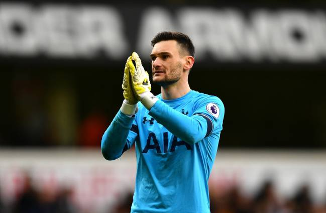 Hugo Lloris después del Tottenham-Everton de Premier League.