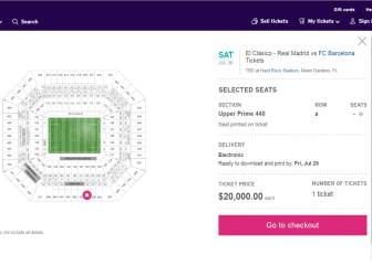 $20,000 to see Real Madrid - Barcelona in Miami!