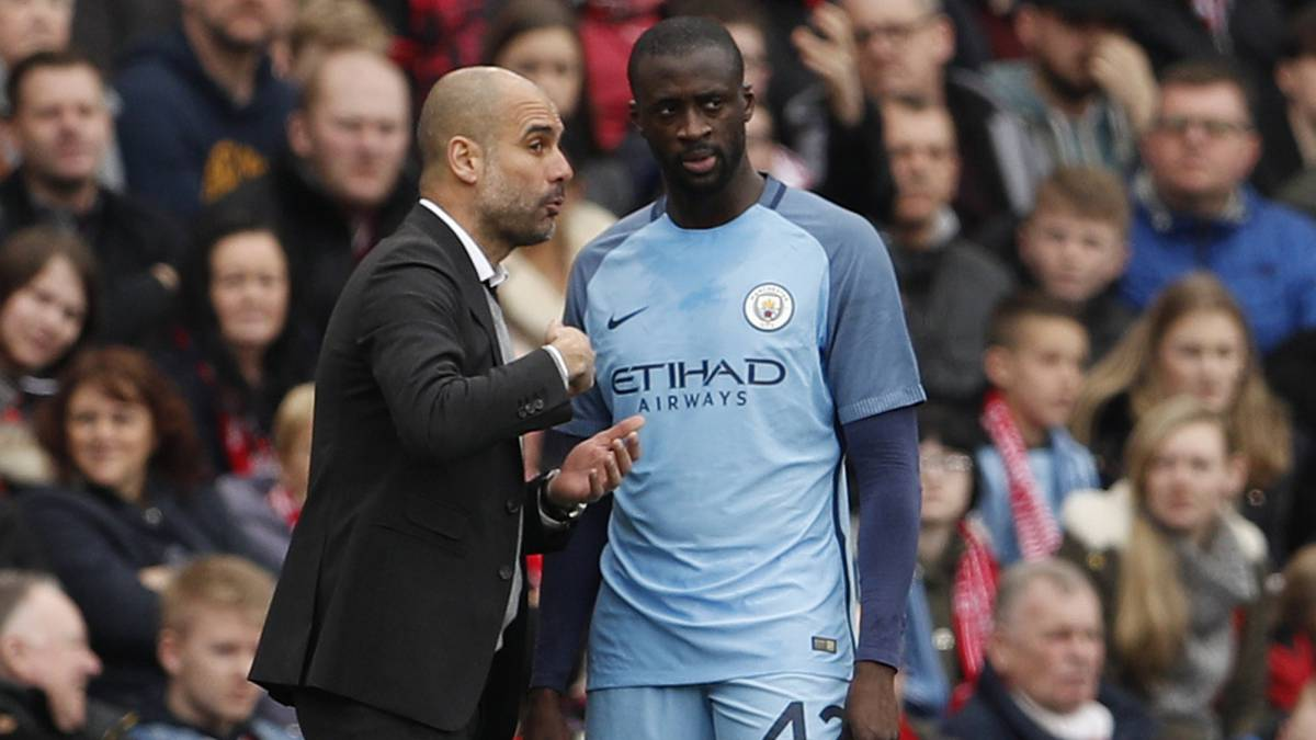 Yaya Touré con Guardiola