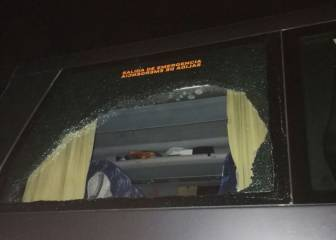 Complaints filed after Madrid supporters' bus is attacked