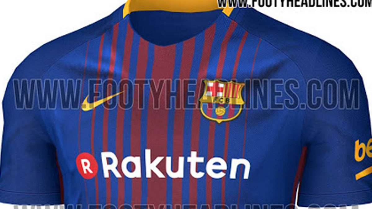 Barcelona 2017/18 kit: possible home shirt leaked
