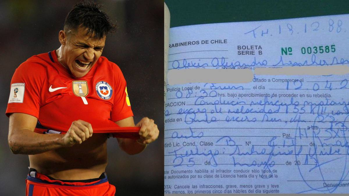Alexis Sánchez has driving licence confiscated in Chile