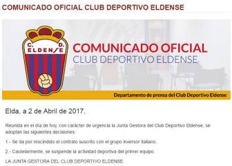 Eldense to sit out rest of season amid match-fixing allegations