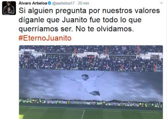 Arbeloa pays tribute to Juanito with apparent Piqué swipe