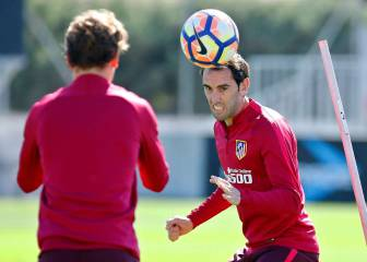 Gameiro and Gaitán train alone with Madrid derby looming