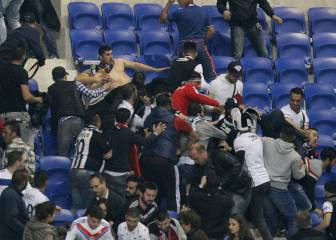 Incidentes violentos retrasan el Olympique Lyon-Besiktas