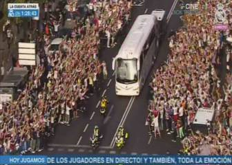 Real Madrid fans out in force to greet the team