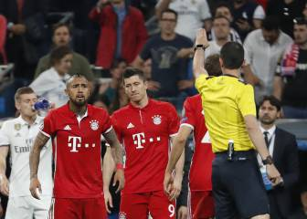 Police intervened as Bayern players confronted ref