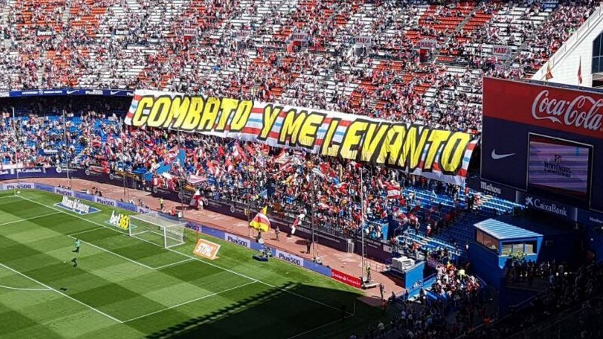 "The Atlético fans' message: ""I fight and get up"""
