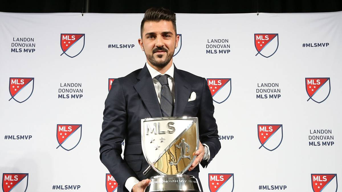 El delantero asturiano del New York City, David Villa.
