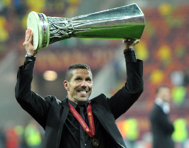 Simeone con la Europa League.