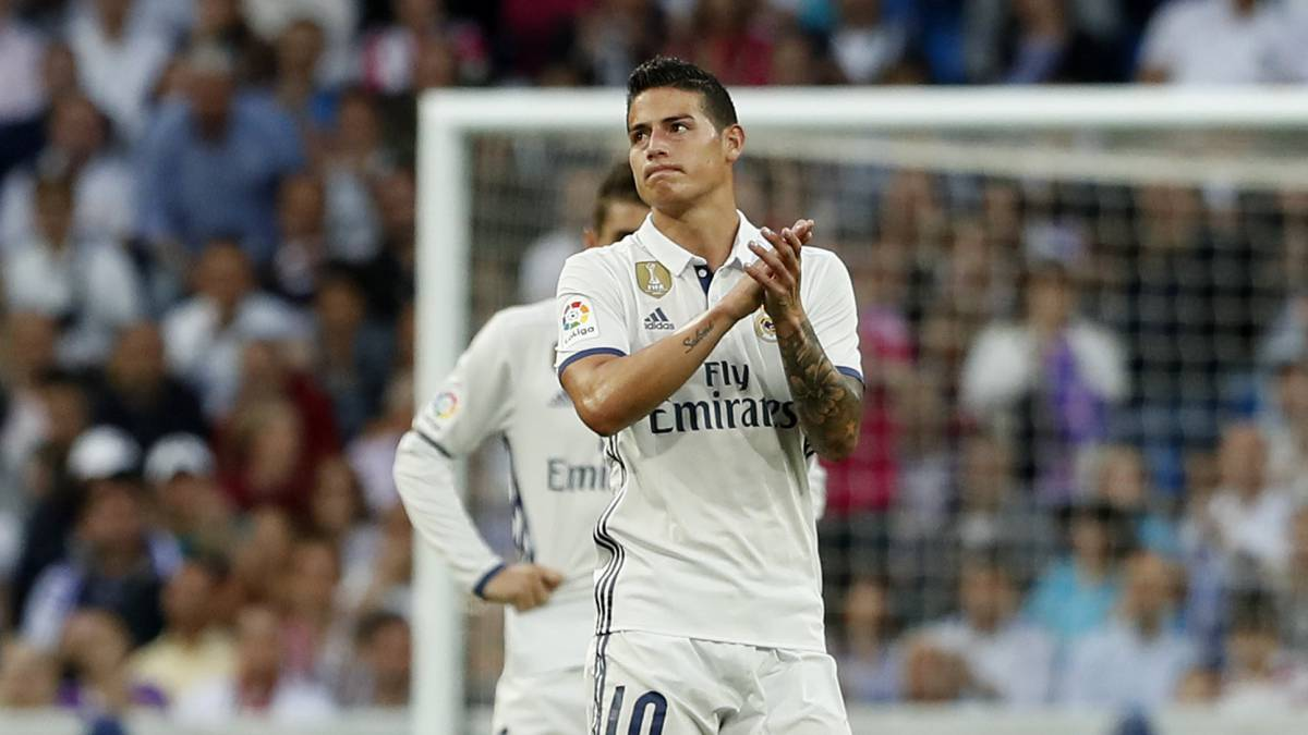 El centrocampista colombiano del Real Madrid, James Rodríguez.