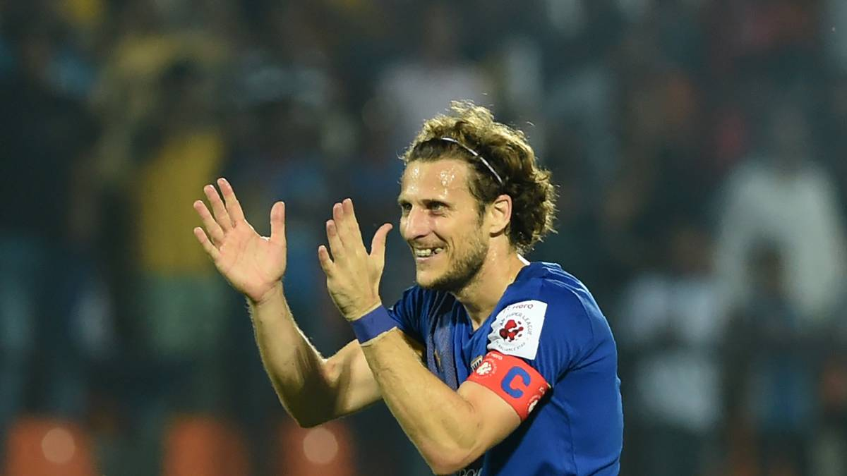 Forlán ha estado disputando la Superliga india.