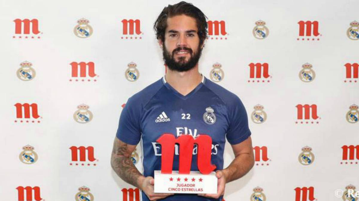 Isco voted Real Madrid fans' player of the season